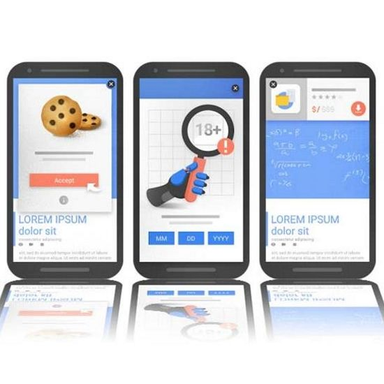 Google to penalise intrusive interstitials on mobile